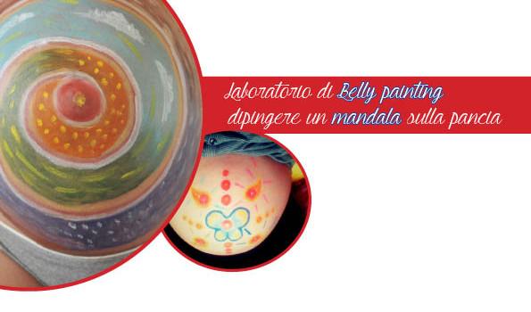 Belly painting dipingere un mandala sulla pancia