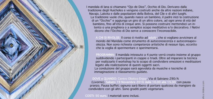 Workshop intensivo: Mandala Intessuto Condiviso